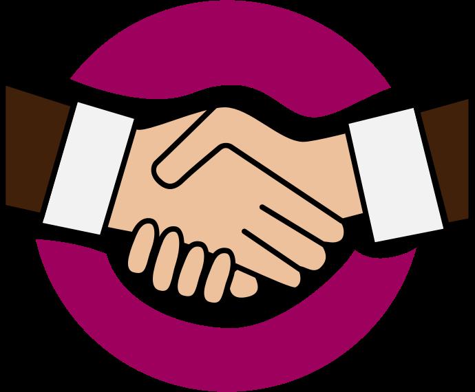 Shaking hands handshake clip art 2 image