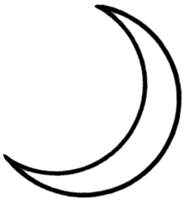 Share Crescent Moon Clipart With You Friends