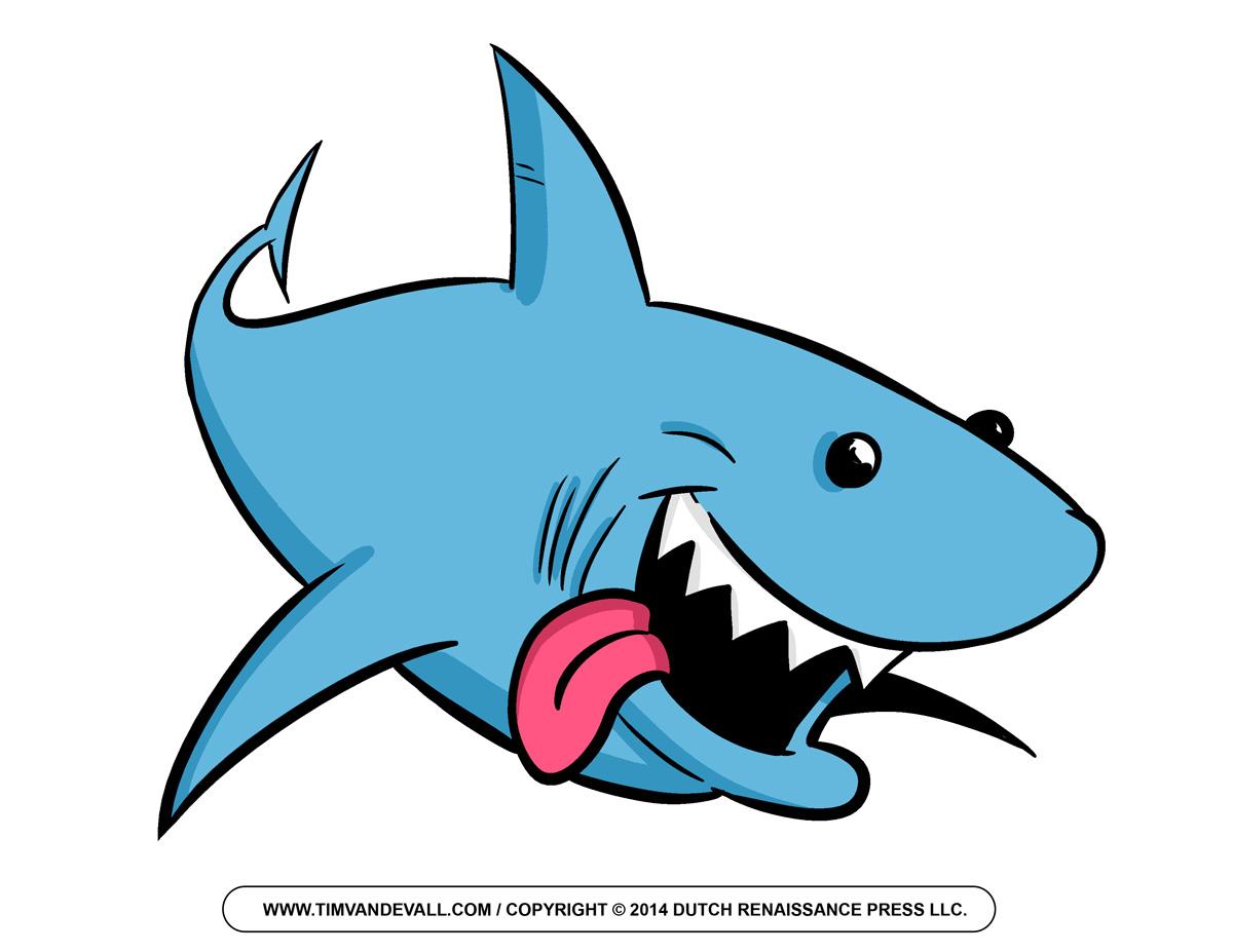 Cartoon Shark Clipart #1