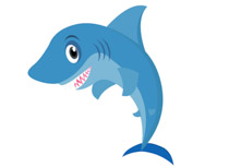 Cartoon Style Shark With Large Teeth Clipart Size: 45 Kb