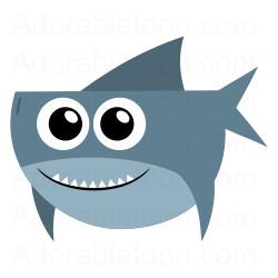 Cute shark clipart from Adorabletoon hdclipartall.com