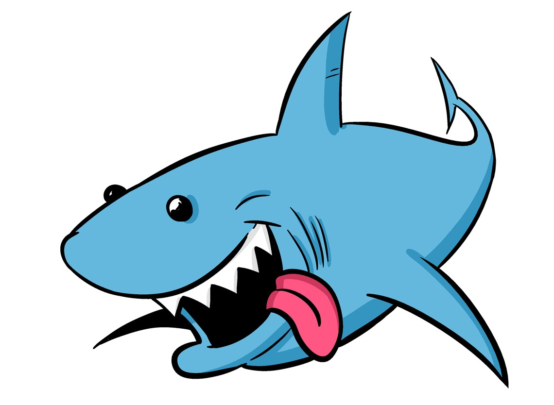 Picture of a shark on animal picture society clip art