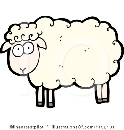 Clip Art Happy Sheep Clipart #1
