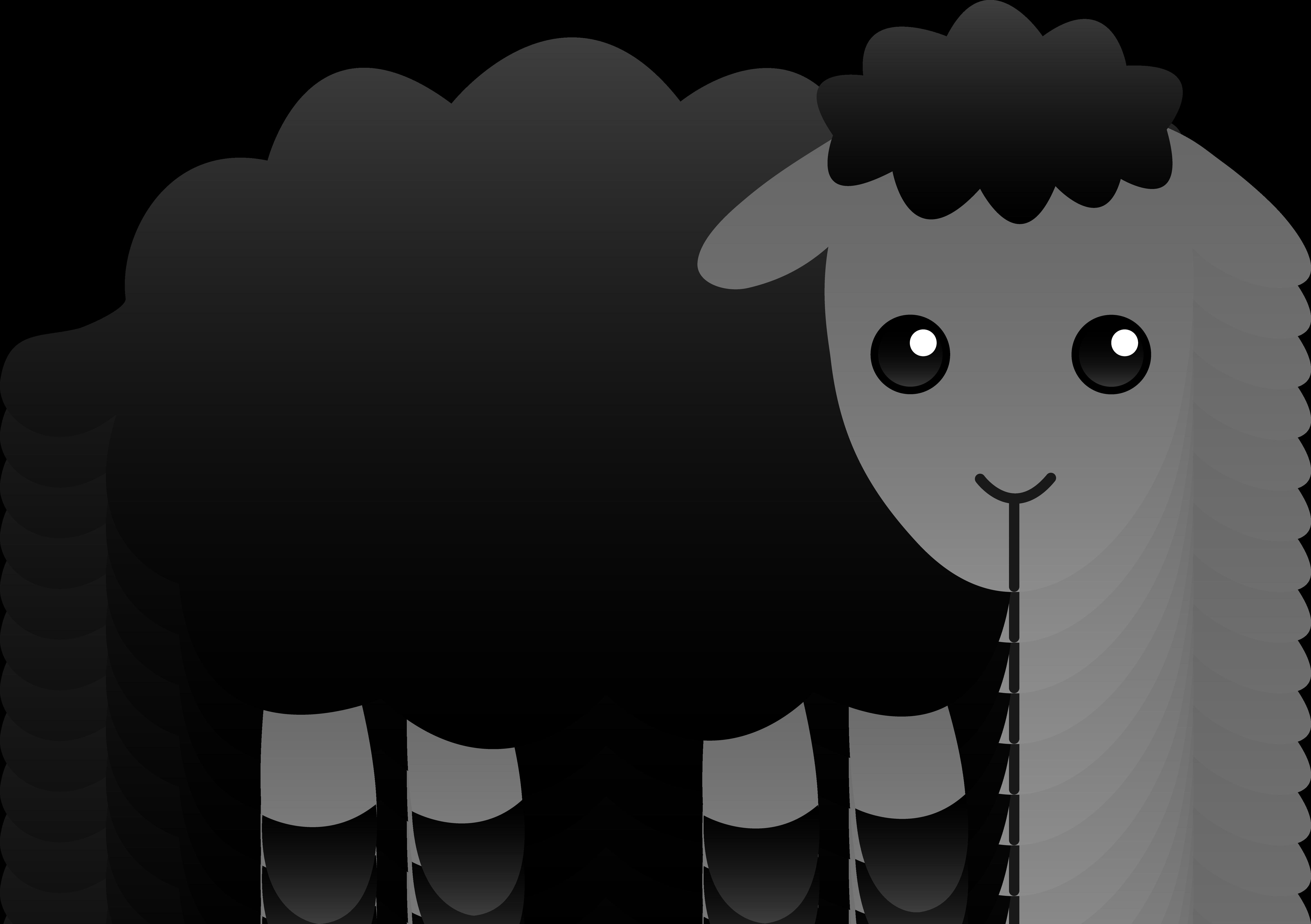 Sheep clipart cute - .