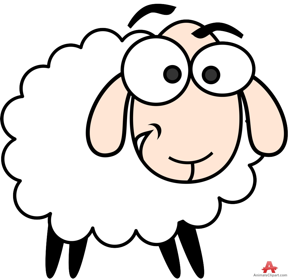 Cute sheep character clipart free design Sheep Clipart