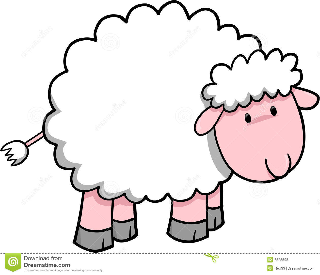 Pretty clipart sheep #3