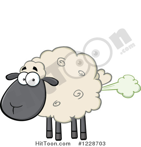 Sheep Fart Clipart Vectors 1