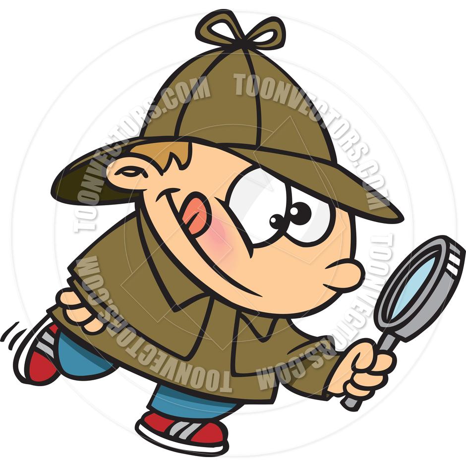 Sherlock Holmes clipart cartoon #1