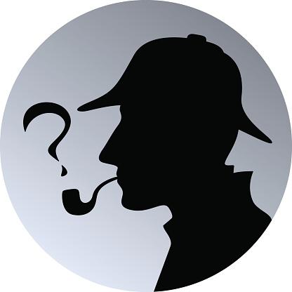 Sherlock Holmes clipart silhouette #3