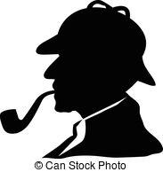 sherlock holmes silhouette clip art | Sherlock holmes Vector Clipart EPS  Images. 536 Sherlock holmes
