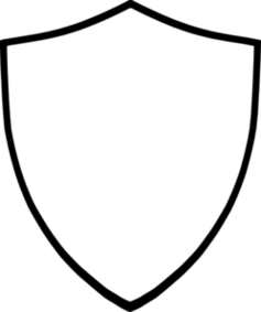 Shield Clipart Black And White .