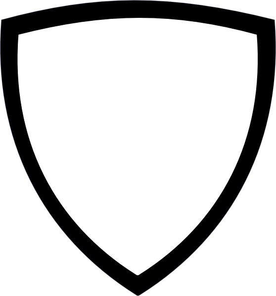 Clipart Black And White Shield Icon