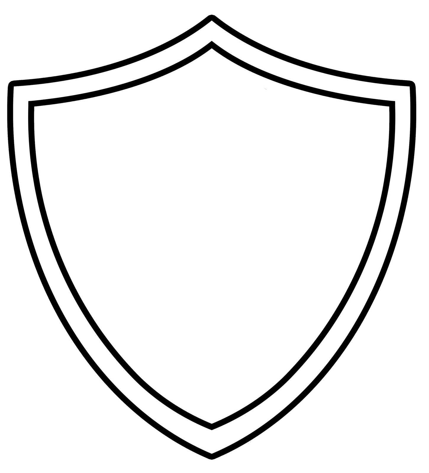 Shield Clipart Black And Whit - Shield Clipart