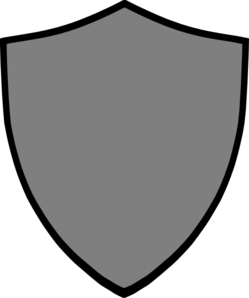 Shield-grey Clip Art
