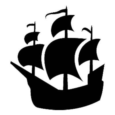 Adhesive stencil pirate ship clipart Pirate Ships, Ahoy Matey, Pirate Life,  Ship Silhouette
