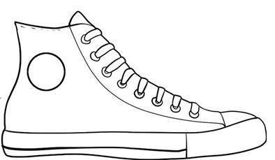 Shoe clip art black and white .