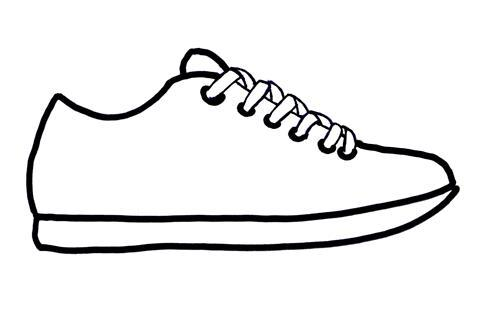Sneaker shoe sole outline clip art