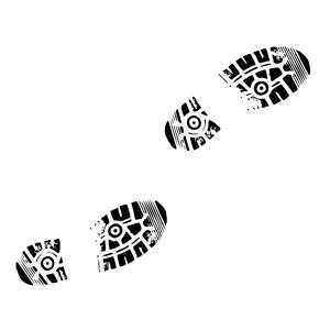 Shoe prints clipart cliparts .