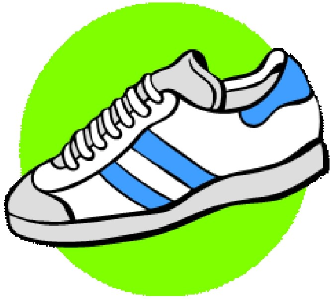 Extraordinay Running Shoes Clipart 92 In Space Clipart with Running Shoes  Clipart