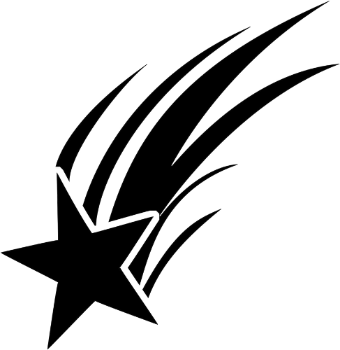 Shooting Star Clipart Black And White Clipart Best