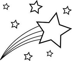 Shooting stars clipart black and white free 2