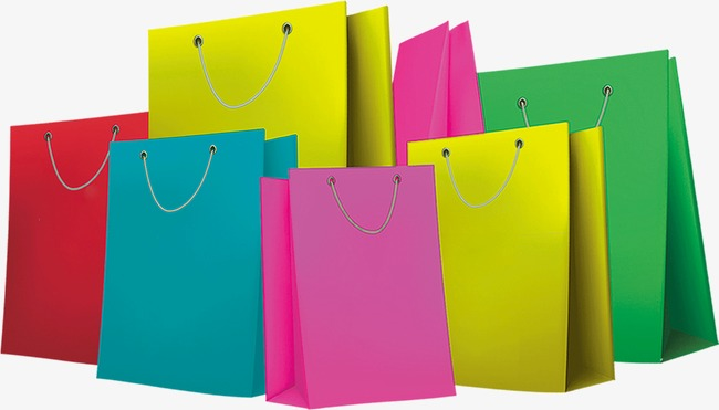 Creative Shopping Bags, Shopping Bag, Paper Bags, Color PNG Image And  Clipart