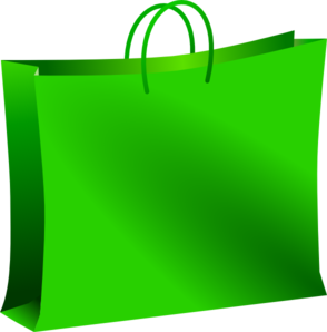 Green Shopping Bag Clip Art