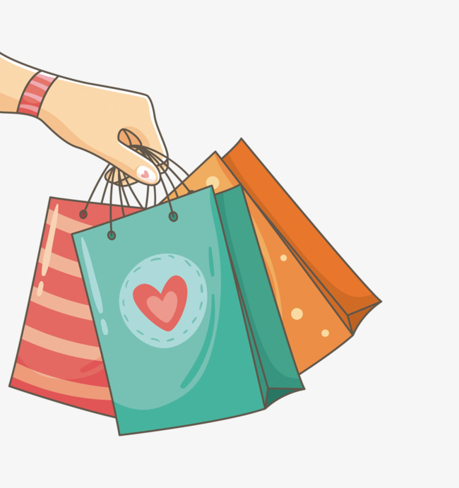 holding shopping bags, Shopping Bag, Shopping PNG Image and Clipart