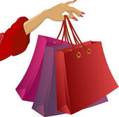 Realistic Colorful Shopping Bags; Shopping: Womanu0027s Hand With Bags