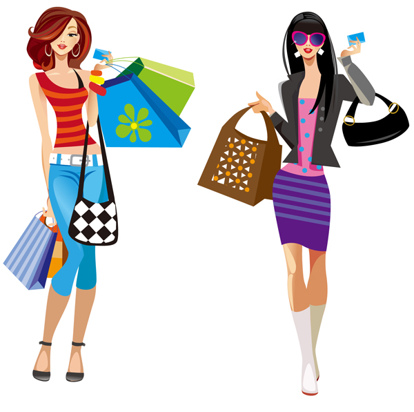 Shopping Girl Clipart