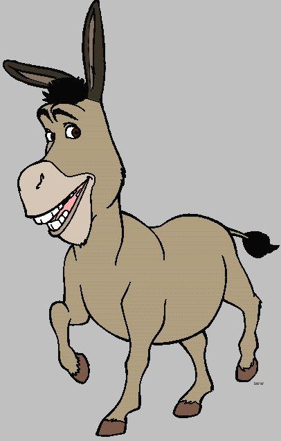 Shrek Clipart - Character Images - Shrek, Fiona, Donkey