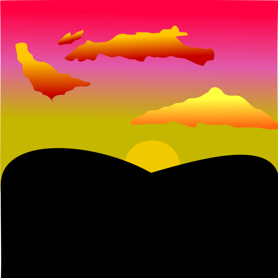 Shutdown Sunset Clipart .