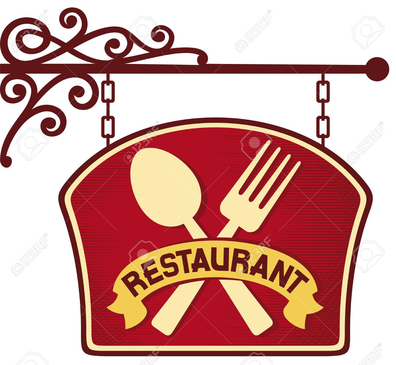 signboard restaurant symbol .