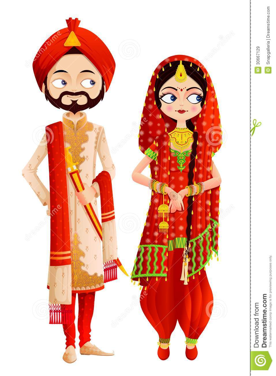 Sikh Wedding Couple - Download From Over 58 Million High Quality Stock  Photos, Images, Vectors. Sign up for FREE today. Image: 30667129