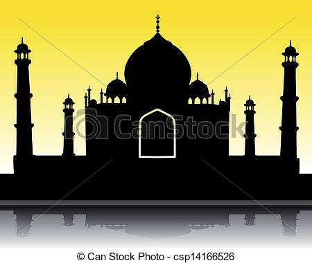 ... silhouette of the Taj Mahal - vector silhouette of the Taj... ...