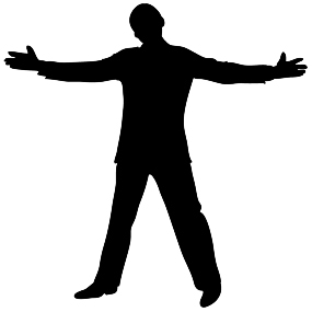 silhouette open positive man clipart silhouette clipart male open gesture