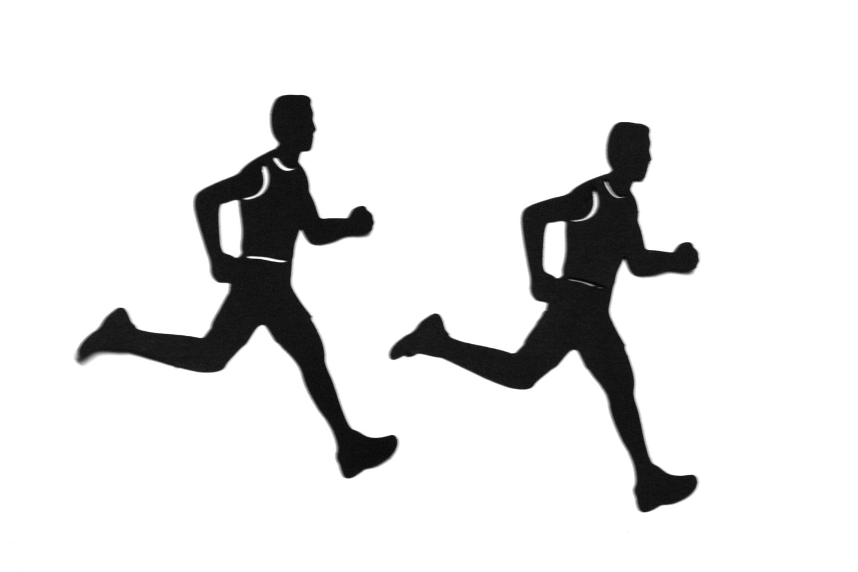 Silhouette Runner - Clipart .