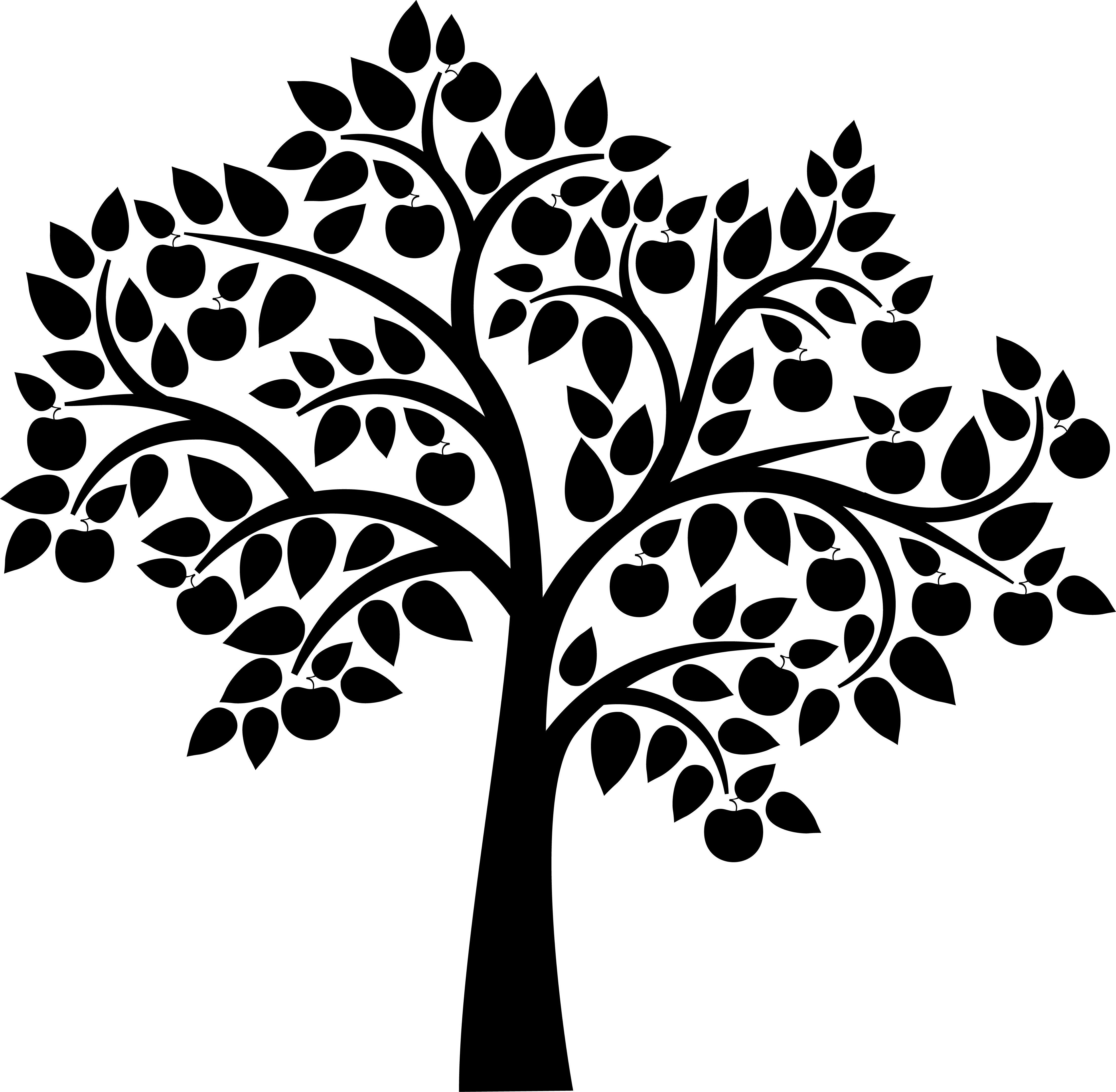 Apple Tree Silhouette Clipart - Free Clipart