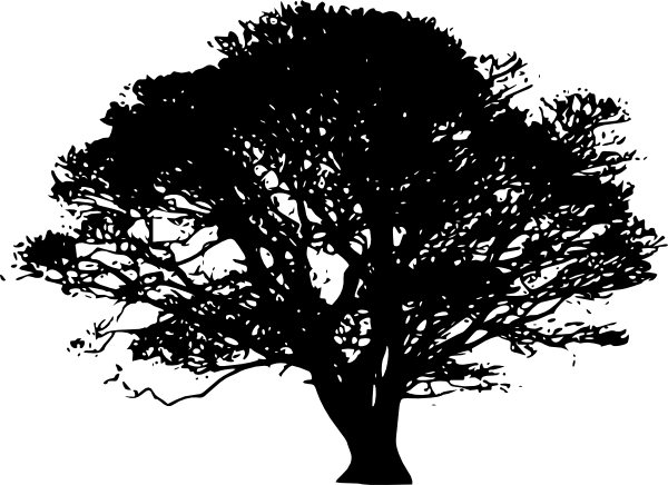 Silhouette Tree Clipart this image as:
