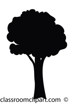 tree-black-silhouette-clipart - Silhouette Tree Clipart