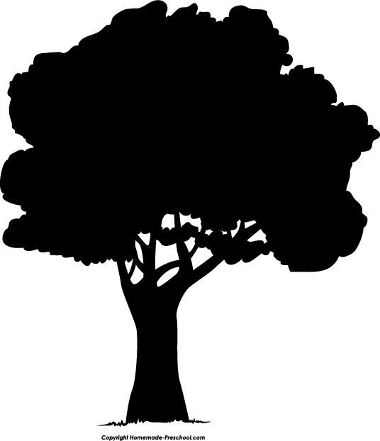 Tree Silhouette Clip Art Silh - Silhouette Tree Clipart