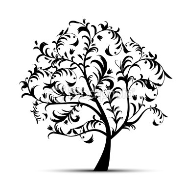 Tree Silhouette Free Clipart  - Silhouette Tree Clipart
