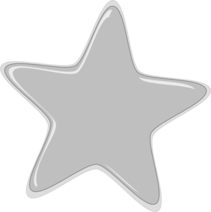 Silver Star Clipart