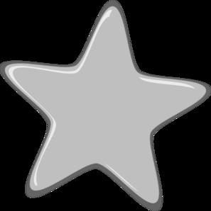 Silver Star Clipart - Silver Clipart