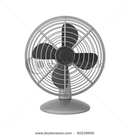 Silver Fan Isolated On White Background Clipart Illustration Picture