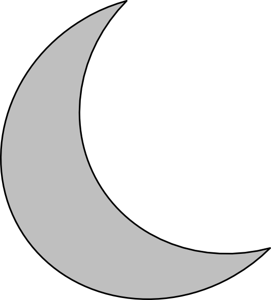 Silver moon clip art vector clip art free