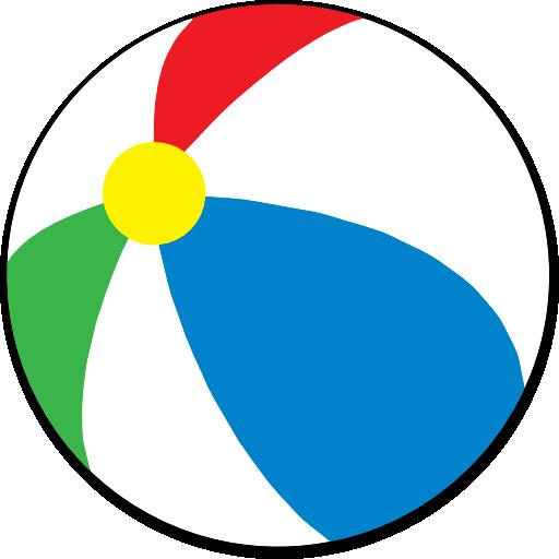 Simple Beach Ball Clipart