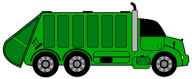 Simple Garbage Can Clipart .
