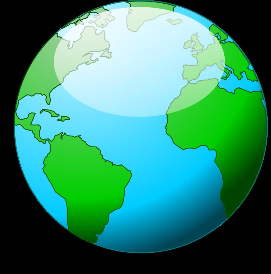 Simple Globe Vector | Clipart .