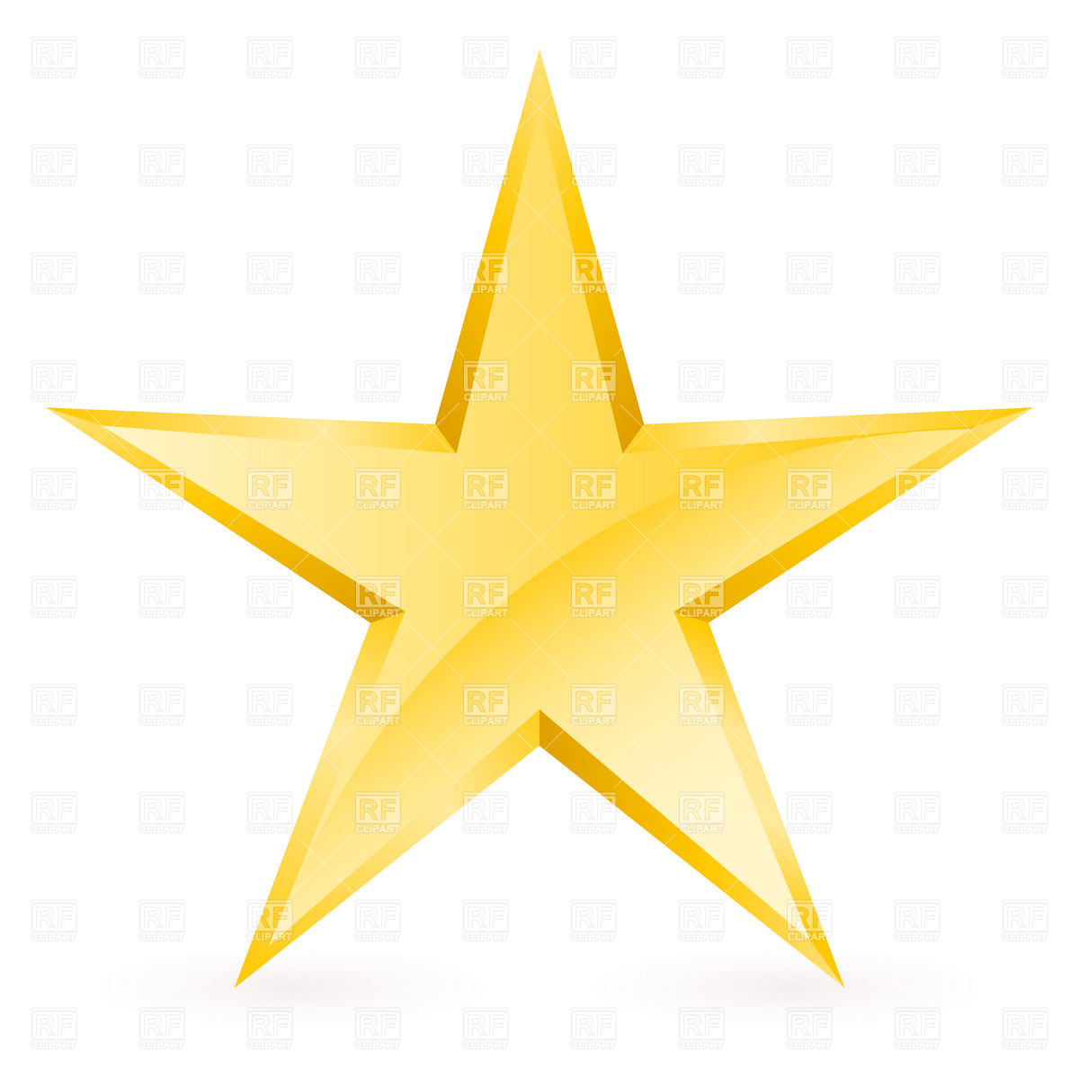 Simple Gold Star 8279 Download Royalty Free Vector Clipart Eps
